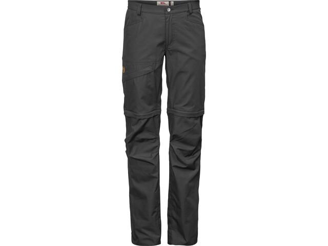 Fjällräven Daloa Shade Pantalones Zip-Off Mujer, gris